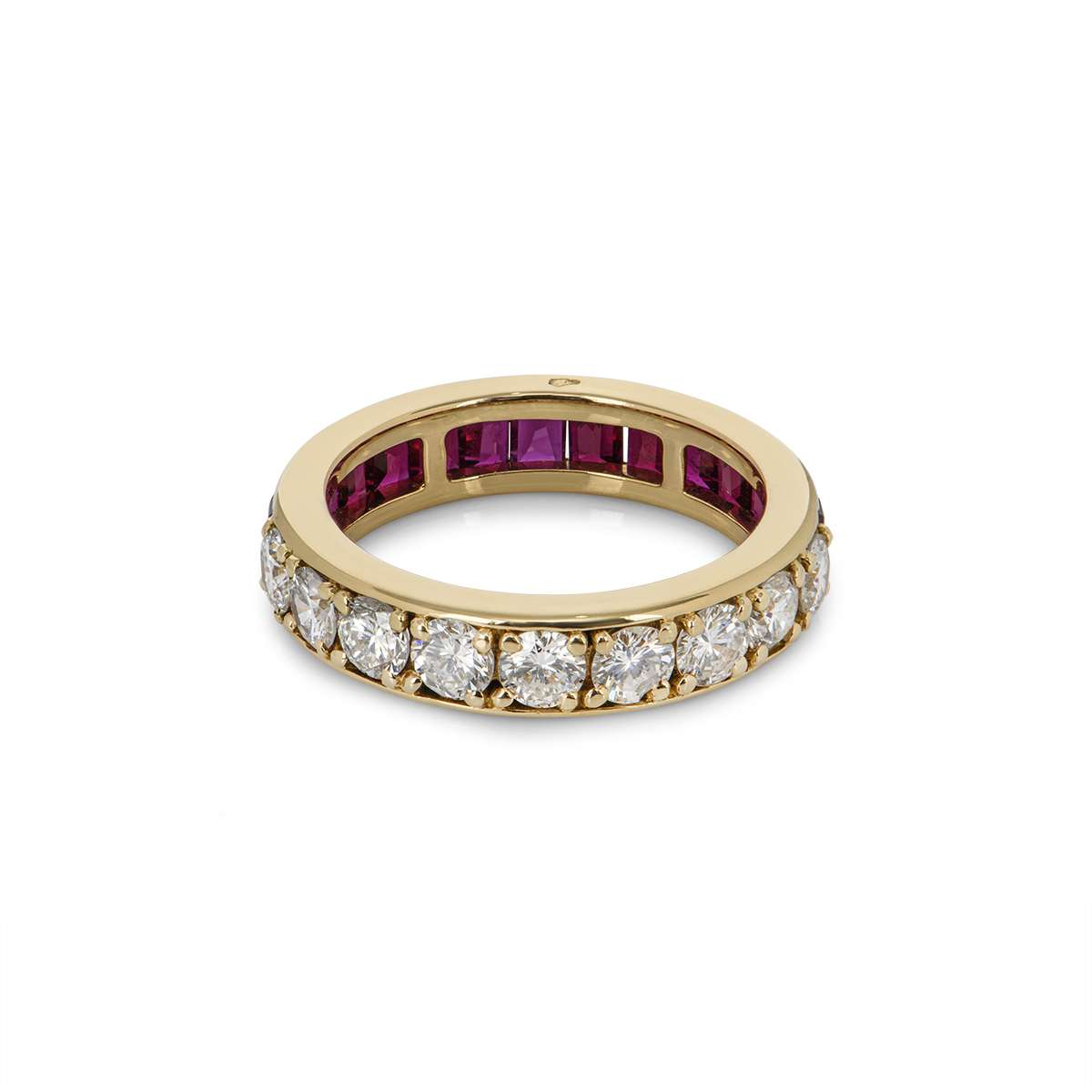 Yellow Gold Diamond and Ruby Dress Ring